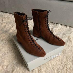 Free People - Vagabond JOYCE Brandy Suede Boots